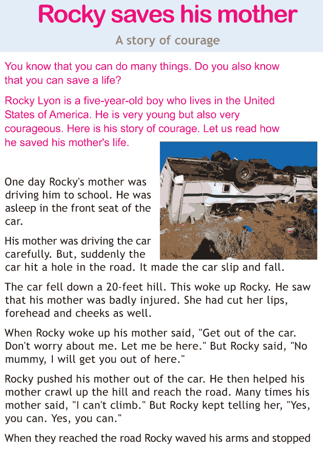Personality development course grade 1 lesson 11 Rocky saves his mother (1)