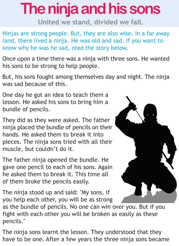 The ninja and his sons