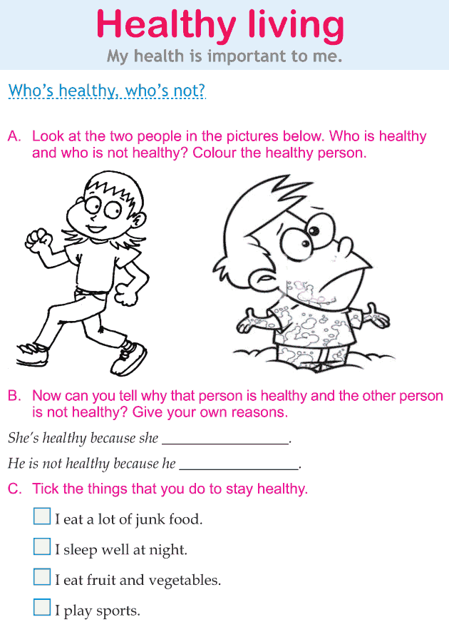 Personality development course grade 1 lesson 15 Healthy living (1)