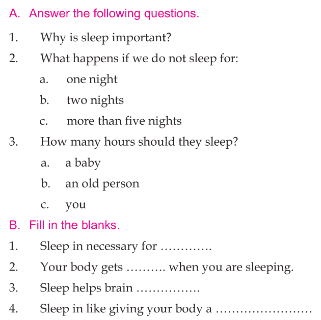 Personality development course grade 1 lesson 16 Importance of sleep (2)