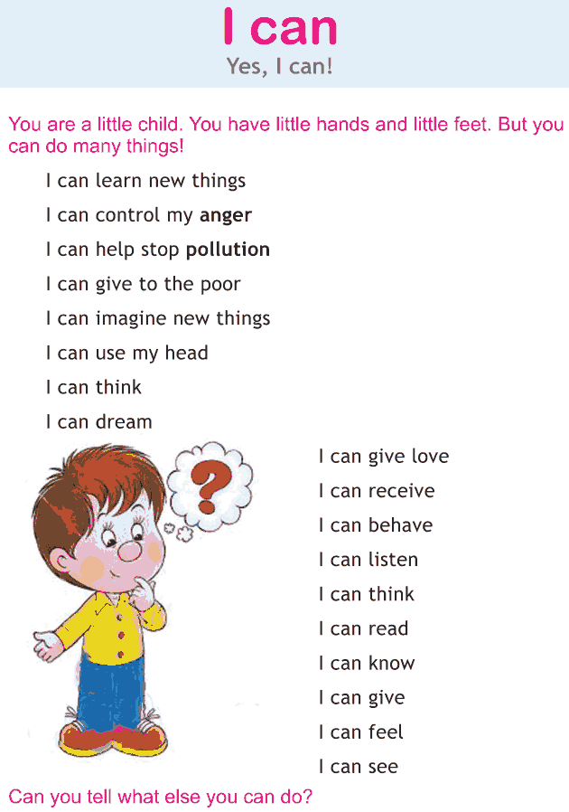 Personality development course grade 1 lesson 2 I can (1)