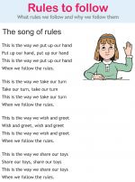 Rules to follow