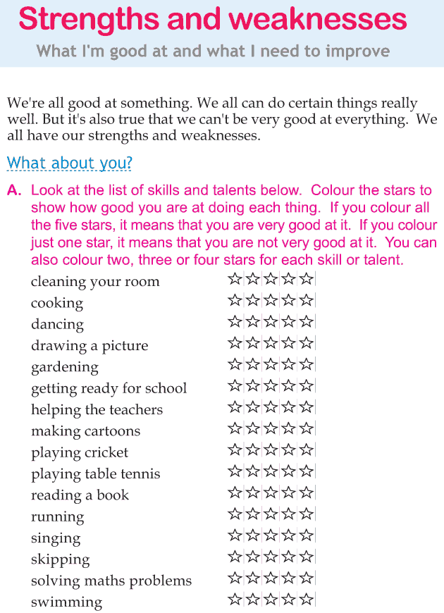 Personality development course grade 1 lesson 3 Strengths and weaknesses (1)