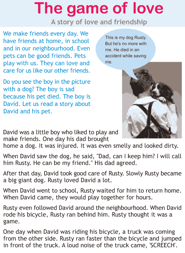 Personality development course grade 1 lesson 9 The game of love (1)