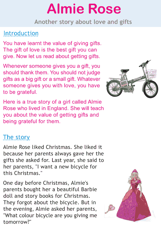 Personality development course grade 2 lesson 10 Almie Rose (1)
