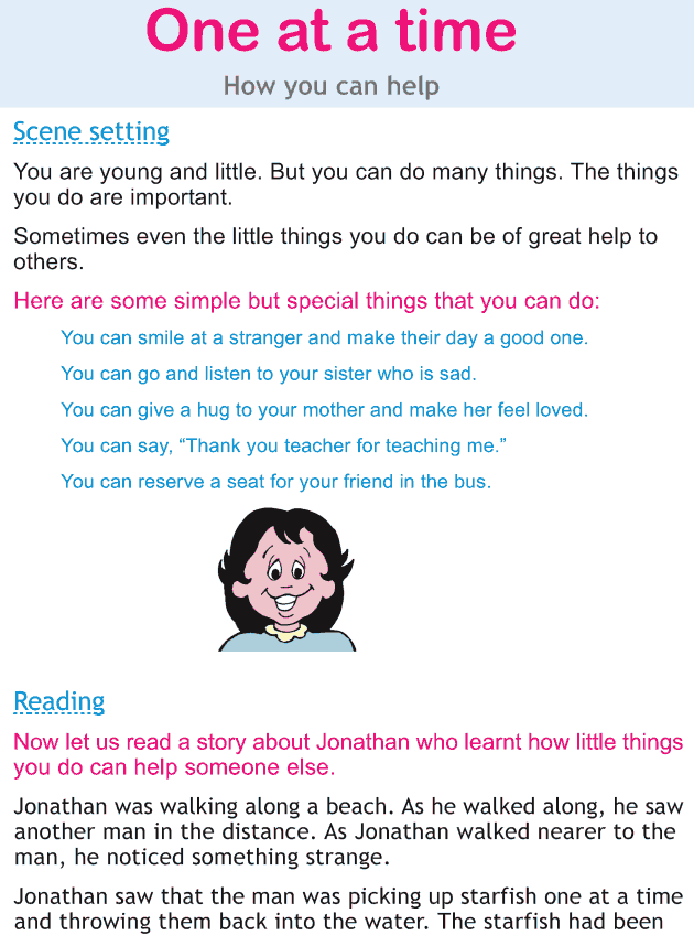 Personality development course grade 2 lesson 13 One at a time (1)