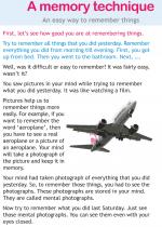 A memory technique