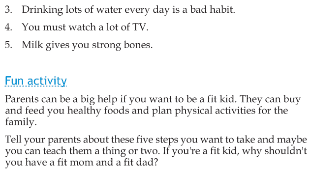 Personality development course grade 2 lesson 17 Be a fit kid (4)