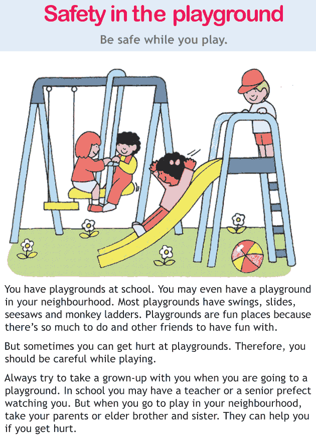 Personality development course grade 2 lesson 19 Safety in the playground (1)