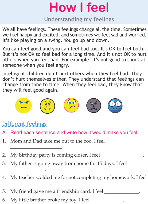 Personality development course grade 2 lesson 2 How I feel (1)