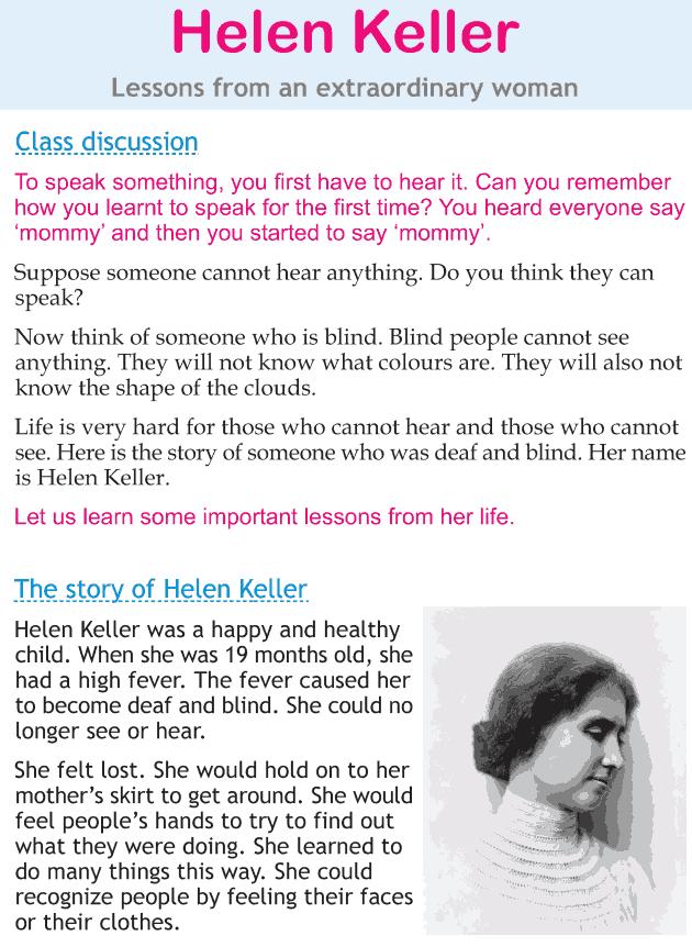 Personality development course grade 2 lesson 21 Helen Keller (1)