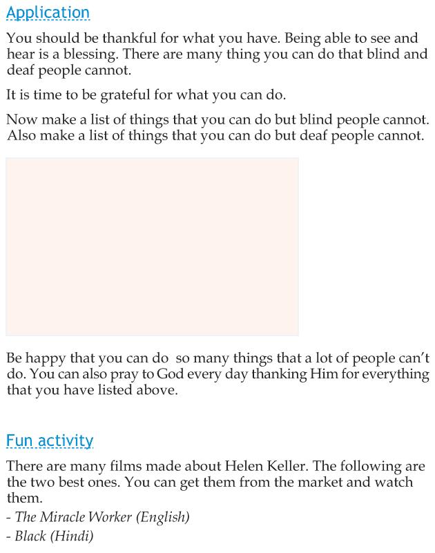 Personality development course grade 2 lesson 21 Helen Keller (4)