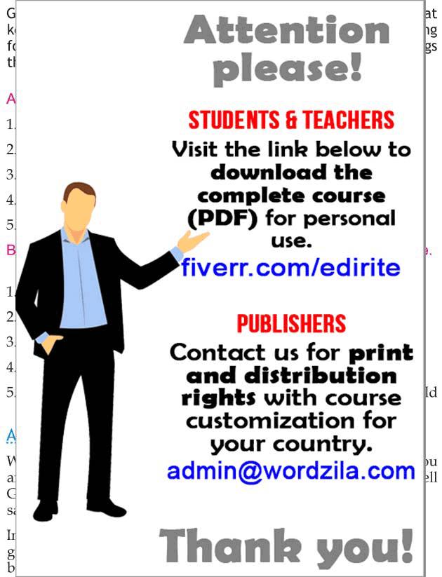 Personality development course grade 2 lesson 5 God's job (2)