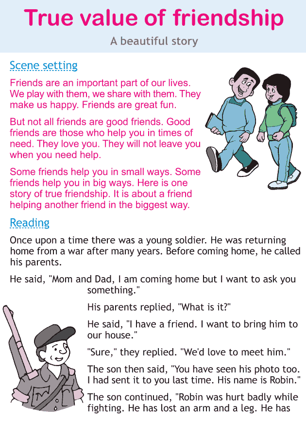 Personality development course grade 2 lesson 8 True value of friendship (1)