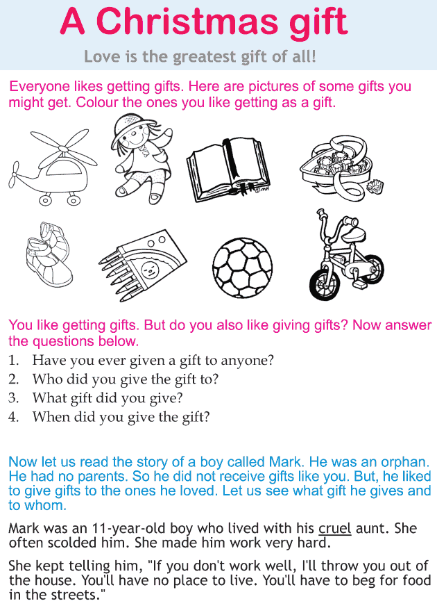 Personality development course grade 2 lesson 9 A Christmas gift (1)