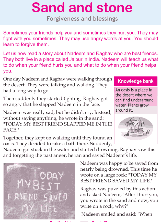 Personality development course grade 3 lesson 12 Sand and stone (1)