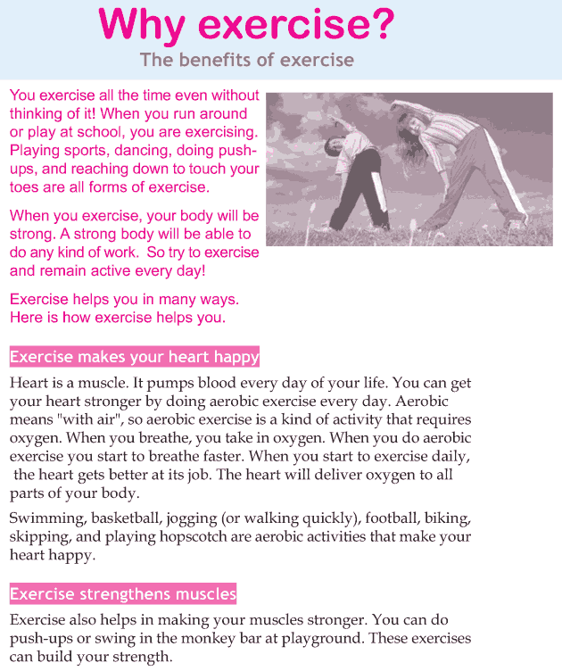 Personality development course grade 3 lesson 15 Why exercise (1)