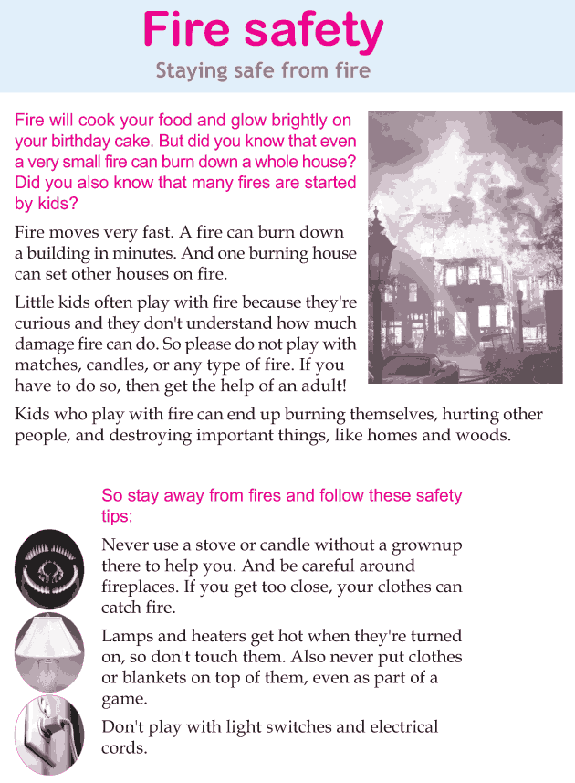 Personality development course grade 3 lesson 16 Fire safety (1)