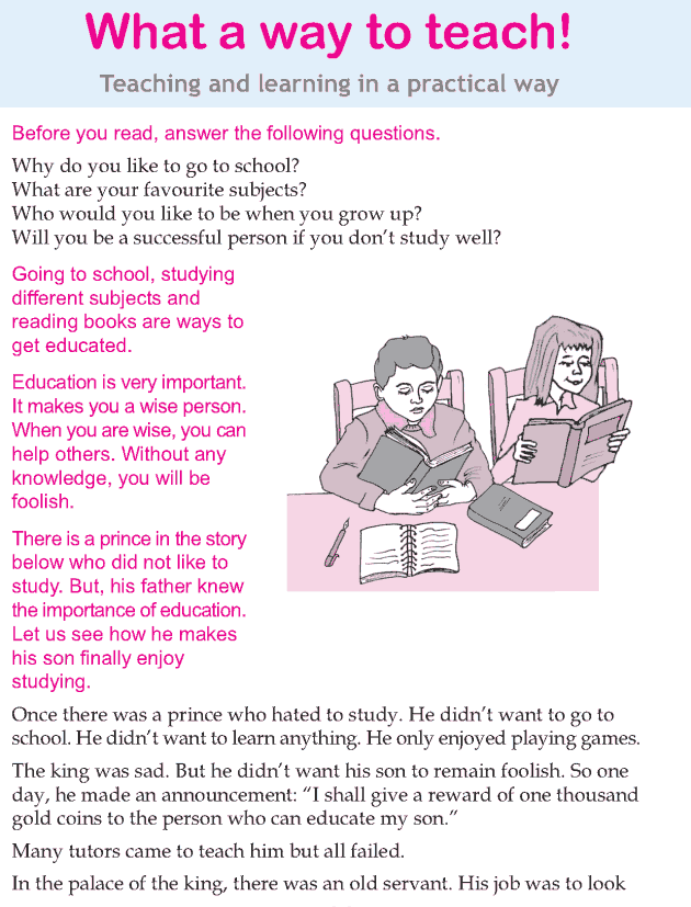 Personality development course grade 3 lesson 17 What a way to teach (1)
