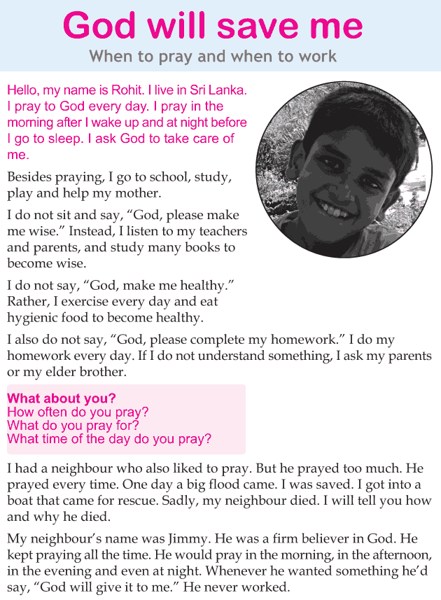 Personality development course grade 3 lesson 5 God will save me (1)