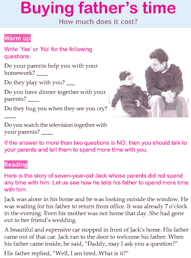 Personality development course grade 3 lesson 8 Buying fathers time (1)