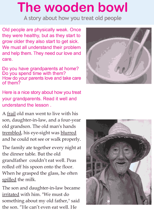 Personality development course grade 3 lesson 9 The wooden bowl (1)