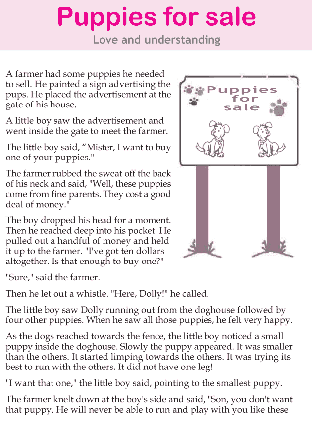 Personality development course grade 4 lesson 10 Puppies for sale (1)