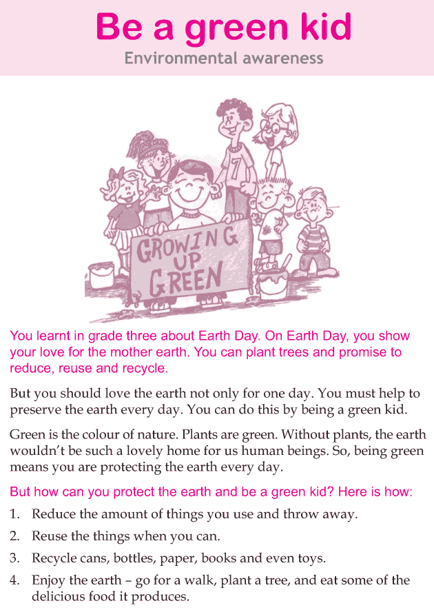 Personality development course grade 4 lesson 15 Be a green kid (1)