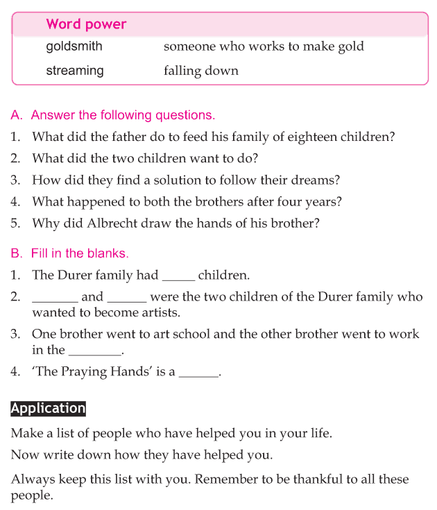 Personality development course grade 4 lesson 3 The praying hands (4)