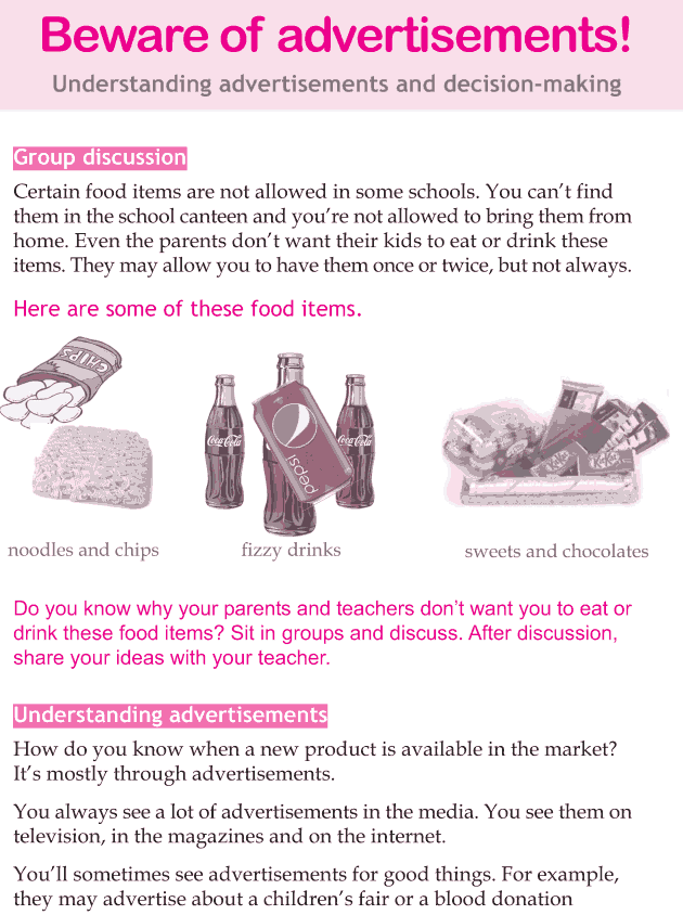 Personality development course grade 4 lesson 4 Beware of advertisements (1)