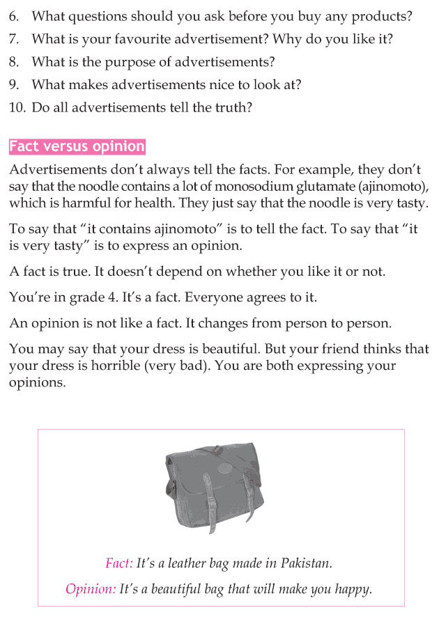 Personality development course grade 4 lesson 4 Beware of advertisements (4)