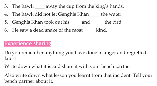Personality development course grade 4 lesson 5 Genghis Khan and his hawk (4)