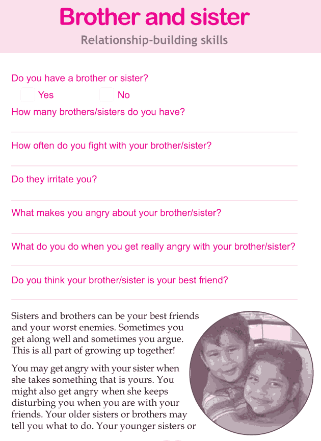 Personality development course grade 4 lesson 6 Brother and sister (1)