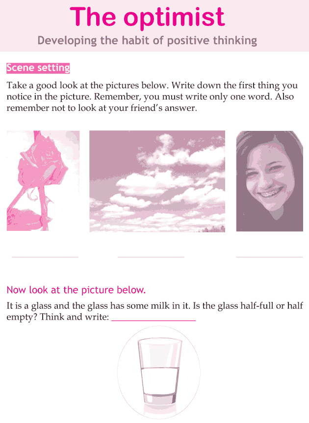 Personality development course grade 5 lesson 1 The optimist (1)