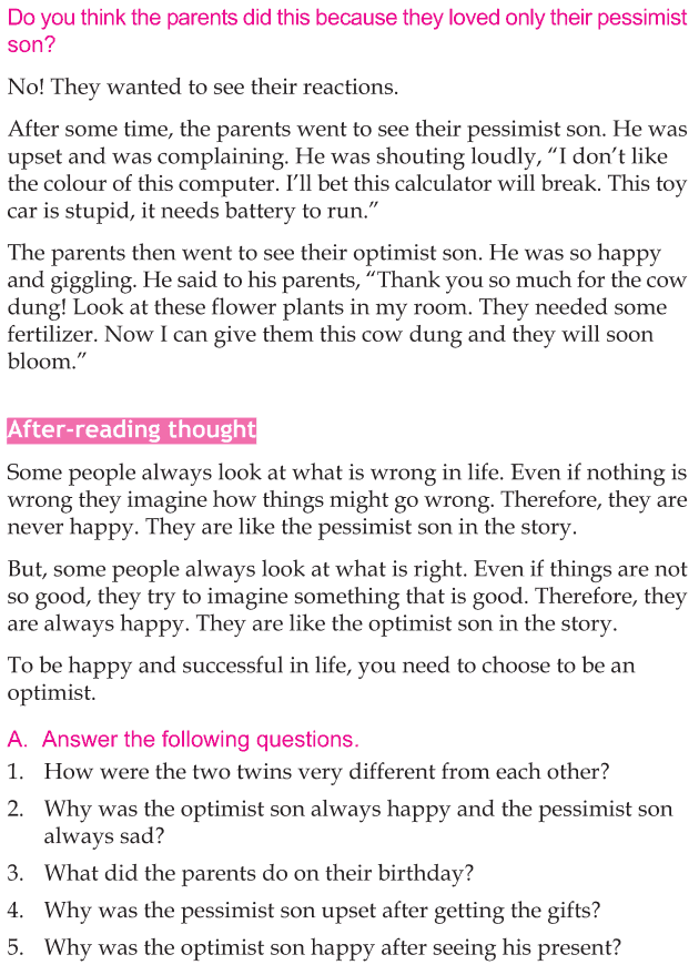 Personality development course grade 5 lesson 1 The optimist (4)