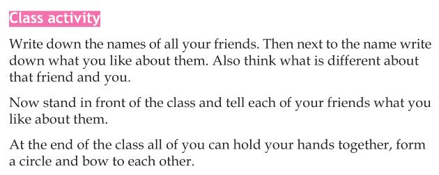 Personality development course grade 5 lesson 11 Colours of friendship (5)