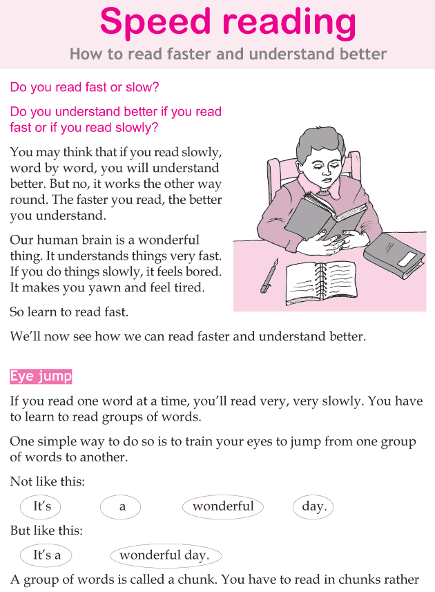 Personality development course grade 5 lesson 12 Speed reading (1)