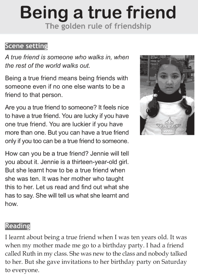 Personality development course grade 6 lesson 10 Being a true friend (1)