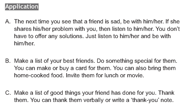 Personality development course grade 6 lesson 10 Being a true friend (5)