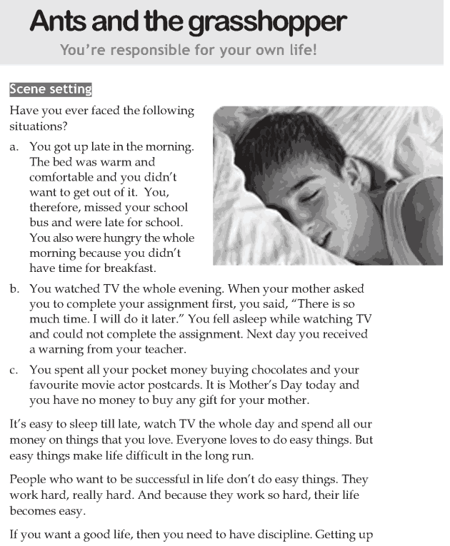 Personality development course grade 6 lesson 11 Ants and the grasshopper (1)