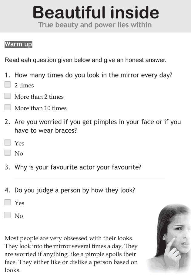 Personality development course grade 6 lesson 12 Beautiful inside (1)