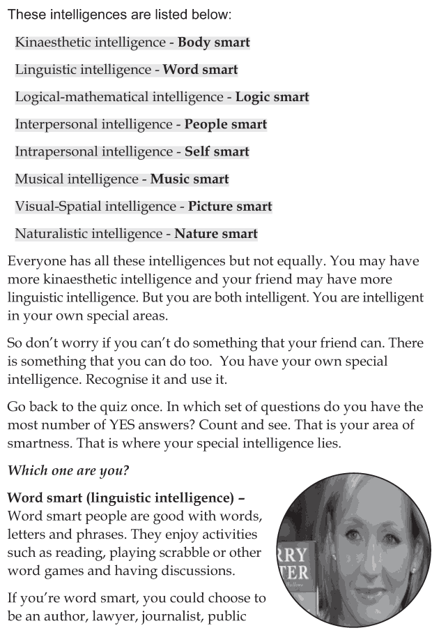 Personality development course grade 6 lesson 13 Multiple intelligences (7)
