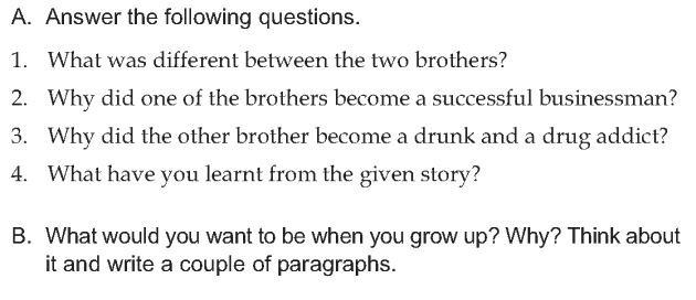 Personality development course grade 6 lesson 5 Same father different sons (4)