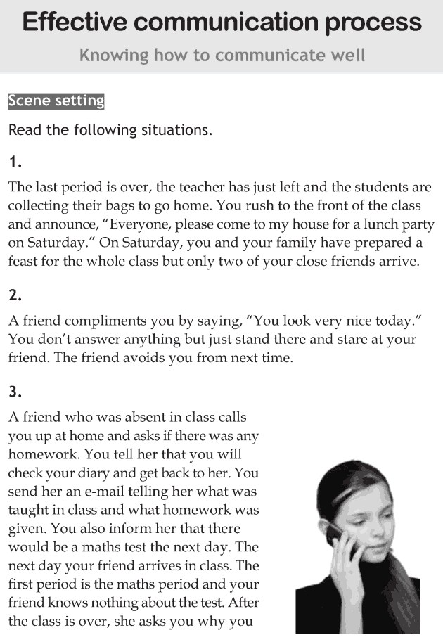 Personality development course grade 6 lesson 6 Effective communication process (1)