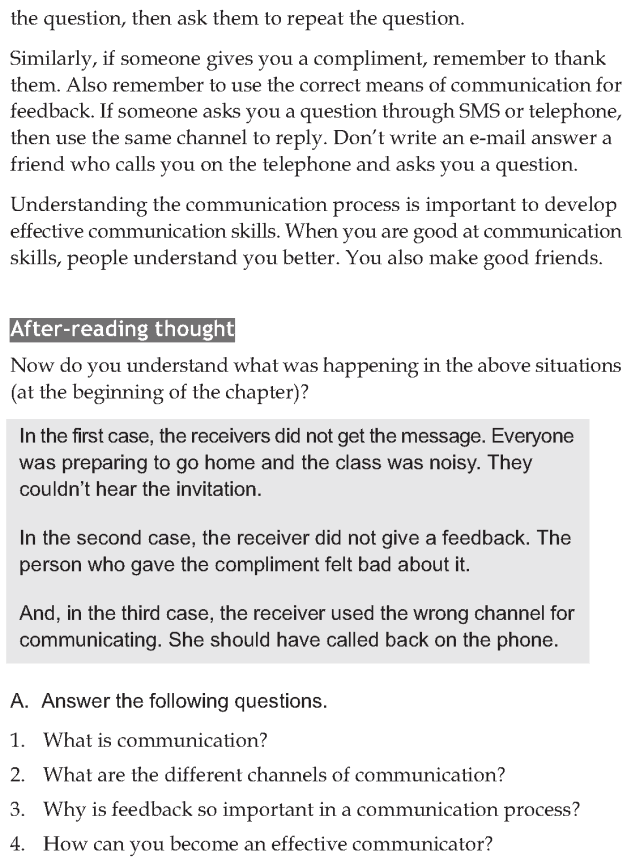 Personality development course grade 6 lesson 6 Effective communication process (5)
