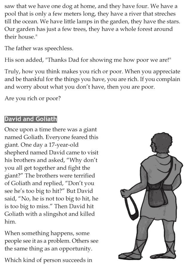 Personality development course grade 6 lesson 8 Positive attitude for life (6)