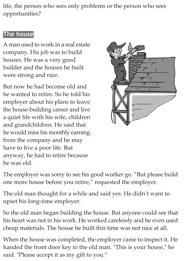 Personality development course grade 6 lesson 8 Positive attitude for life (7)