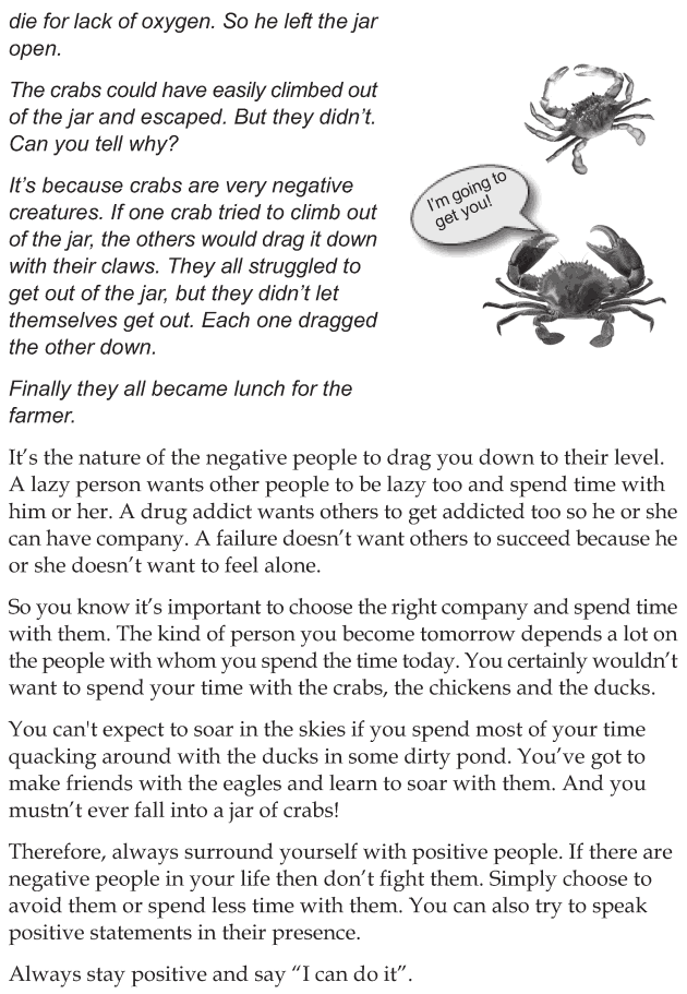 Personality development course grade 7 lesson 1 Avoid negative influences (5)