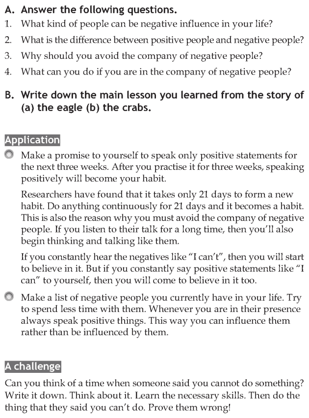 Personality development course grade 7 lesson 1 Avoid negative influences (6)