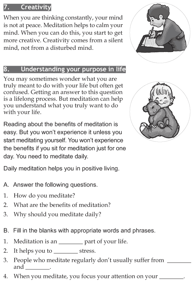 Personality development course grade 7 lesson 10 Meditation (4)